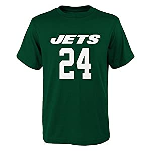 NFL Darrelle Revis # 7 Youth Boys 8-20 Name & Number Short Sleeve Tee