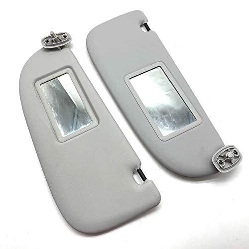 FSXTLLL Visera Interior Gris con Espejo de Maquillaje para Peugeot 206 para Citroen C2 1999////2008 Gris Izquierda//Derecha