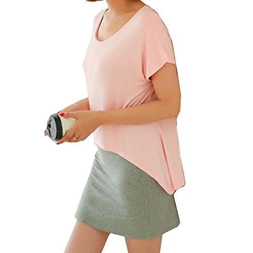 (ティアナ23)Tianna 23 リラックス 授乳服 レイヤード 重ね着風 授乳口 付 マタニティー服 チュニック トップス マタニティ ピンク XL