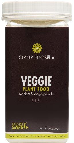 Organics Rx Vegetable Fertilizer, Vegan, GMO free, & Water Soluble