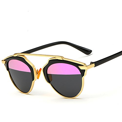 GAMT New Fashion Cateye Polarized Sunglasses For Women Classic Style (Gold Black Frame Pink-grey - Sunglasses Styles Famous