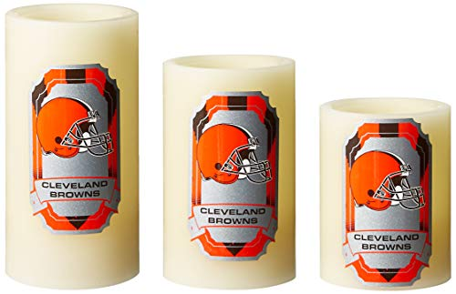 NFL Cleveland Browns LED Light Candle Gift Set (3 piece)