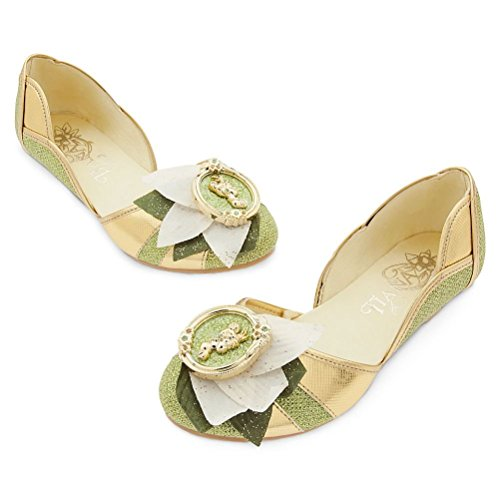 Disney Store Princess Tiana Girl Costume Dress Shoes Size 11/12