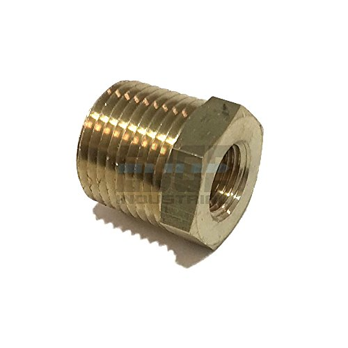 - EDGE INDUSTRIAL Brass REDUCING HEX Bushing 3/8