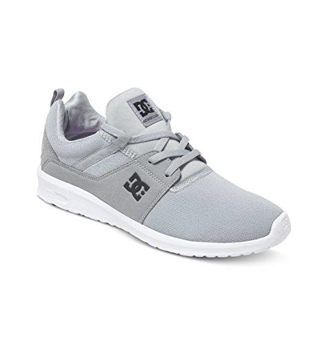 DC Shoes Heathrow M Shoe Bkw - Zapatillas para hombre, color negro Gris - Grau (Light Grey LGR)