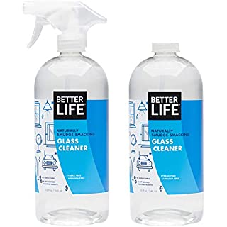 Better Life Natural Streak Free Glass Cleaner, 32 Ounces (Pack of 2), 24425