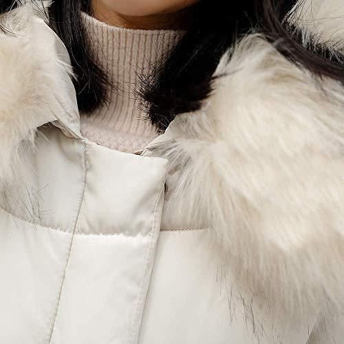 M matelassé duvet femmes Vêtements capuche couleur chaud de avec en Blanc Zhrui en dessus coton Sweat taille pour gris d'hiver qSn7wxUfC4