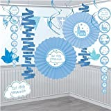 Amscan International Blue Communion Church Paper And Foil Room Decorating Kit -