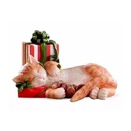 (Lenox Kitty's Christmas Nap Cat with gift Figurine )