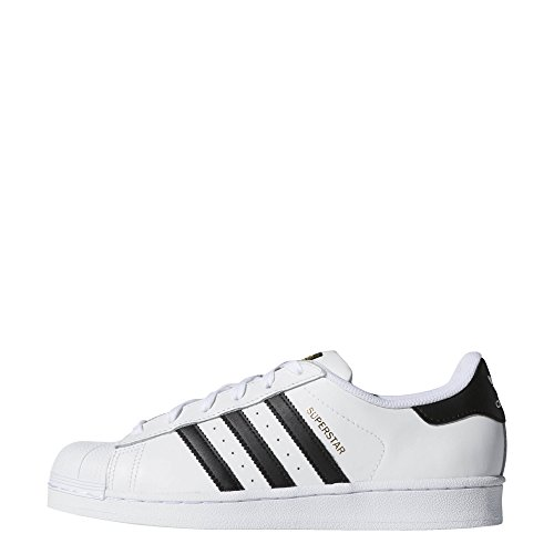 adidas Originals Women's Superstar Running Shoe, Black/White, ((10 M US)