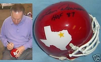 Autographed Len Dawson Mini Helmet - 'd - PSA/DNA Certified - Autographed NFL Mini Helmets