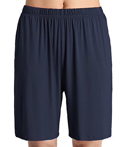 Latuza Women's Soft Sleep Pajama Shorts M Navy