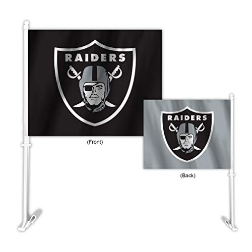 Fremont Die NFL Oakland Raiders Home & Away Car Flag