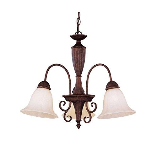Savoy House Light Liberty Three - Savoy House KP-1-5002-3-40 Liberty 3-Light Chandelier in Walnut Patina