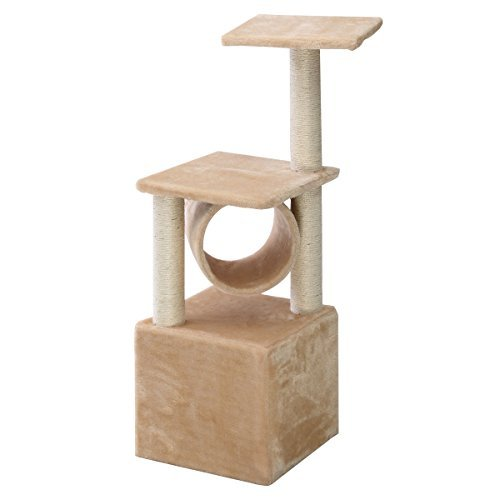 Deluxe 36'' Cat Tree Condo Furniture Play Toy Scratch Post Kitten Pet House Beige