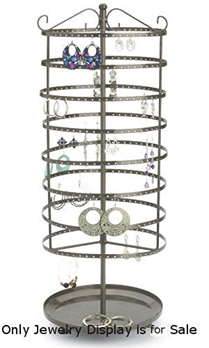 """Retails Steel Rotating round based Large Tiered Jewelry Carousel 24"""" - Mall Carousel Stores"""