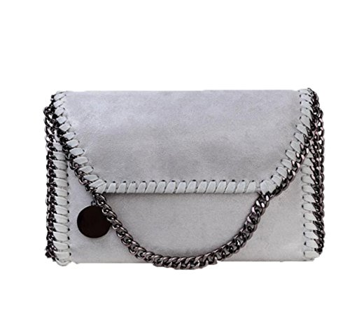 Women's PU Leather Casual Chain Bag Crossbody Bag Messenger Bag Clutch Shoulder Bag by DALAZ