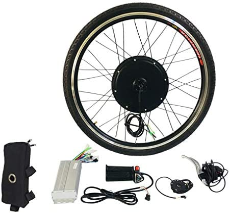 Cornlove 48V 1000W フロント26 ''電動自転車変換キットハブコントロールモーターハブEバイク自転車ホイールスピードコントローラー、アルミ合金ツールクランクスピードセンサー