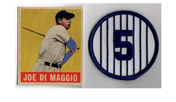 cd780fbbc7953 JOE DiMAGGIO HOF 1949 Leaf #1 with No. 5 Embroidered Sew Or Iron-On ...