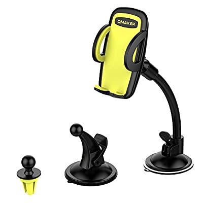 Omaker 3-in-1 Universal Car Phone Mount Phone Holder for iPhone 6 6S SE Plus and More