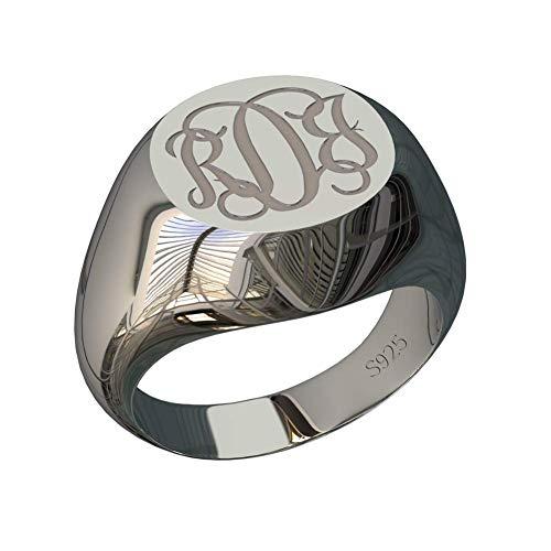 monogrammed ring - 6
