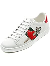 Gucci Women's Embellished Pierced Heart Accent Low Top Sneakers