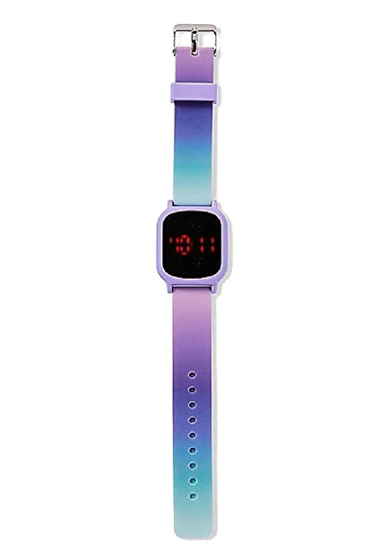 Amazon.com: Justice for Girls - Reloj LED de silicona, color ...