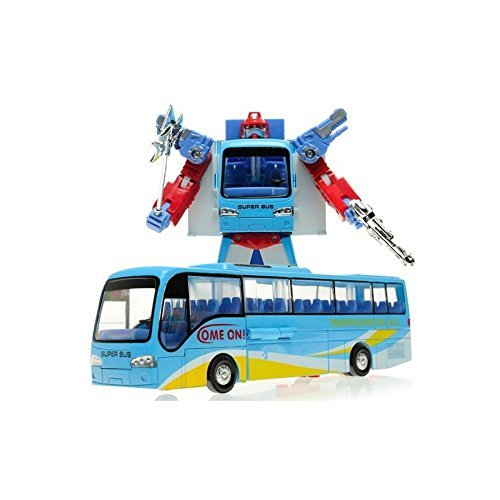 Mallya Transformers Distortion Bus Changer Transform Into Bus Action Figure Toy by Mallya