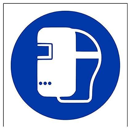 """vsafety 41033 AF-S """"soldadura máscara Logo"""" obligatorio EPI señal, autoadhesivos"""