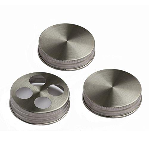 Premium Anti Rust Stainless Steel Mason Jar Bathroom Set