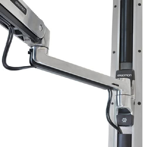 Ergotron – LX Sit-Stand Wall Keyboard Arm – 42-Inch Extension, Polished Aluminum