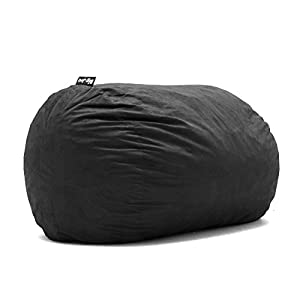Big Joe 0000655 Fuf Foam Filled Bean Bag Chair, XL, Black Lenox