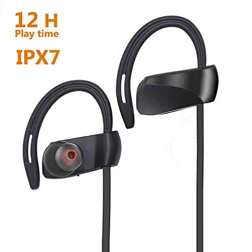 Bluetooth Waterproof Sport Headphone,ZarkkA IPX7 Wireless Sport Earbuds With 12 Hours Music Playing Time Battery, Perfect for Gym Running, Workout, Outdoor Activities