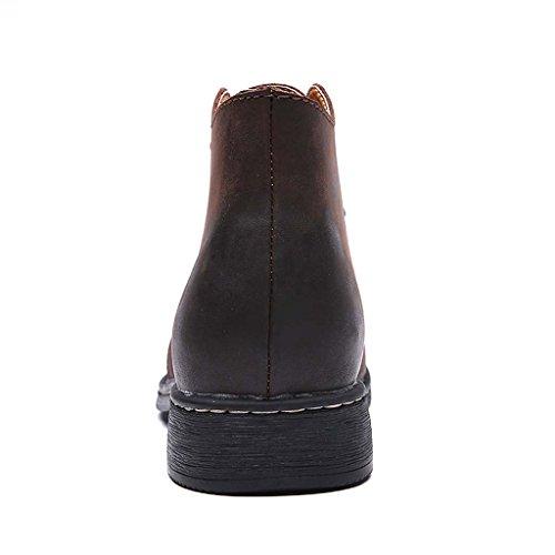 ZXCV Zapatos al aire libre Zapatos de hombre retro grandes zapatos de cuero para ayudar a los zapatos de Martin Marrón