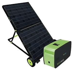 UPG 87530 Ecotricity Portable Emergency Backup Power Solar Generator, Plug and Play