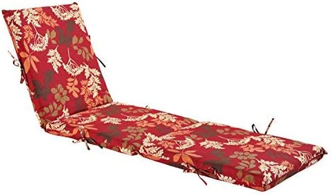 Bossima Indoor Outdoor Lounge Chair Cushions Chaise Bench Seasonal Replacement Cushions Patio Furniture Cushions Red/Brown Floral