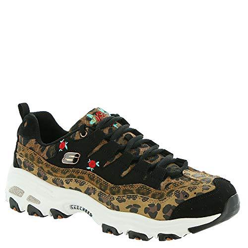 Skechers D'Lites Leopard Rose Womens Sneakers Leopard ()