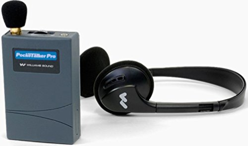 Williams Sound PKT PRO1-3 Pocketalker PRO System Amplifier with Folding Headphone, 100 hours of battery life, Adjustable volume control internal tone control, Accommodates a variety of earphone and he