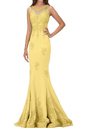 Perle sera abito Damen vestito Pizzo lungo Lussuoso ivyd Gelb ressing feste Applicazione da zp5P5qXnU