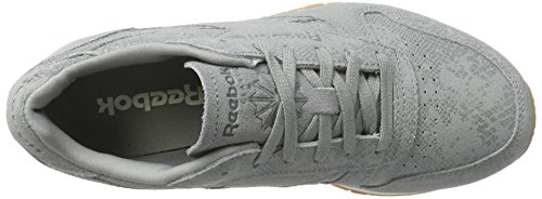 Zapatillas de Reebok Gris Cl Exotics Deporte Lthr Clean Chalk Flint para Grey Gum Mujer qa6aBT