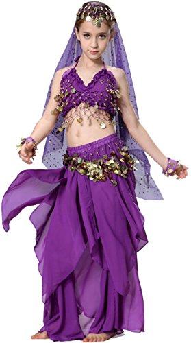 Renaissance Costume Girls Purple 4T 4 5