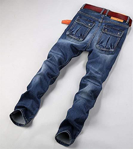 Fit Pantaloni Nab Blau Comodo Dritta Elasticizzati Jeans Slim Vintage Gamba Battercake Gbar FqPwt75n8