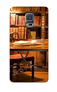 Fashionable HhXOwmH177XKwak Galaxy S5 Case Cover For Study In The Library Protective Case