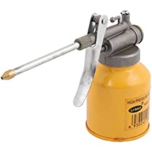 uxcell Metal Nozzle High Pressure Feed Oil Spray Gun Bottle Yellow for Motorcycle