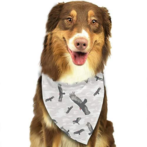 Pet Scarf Dog Bandana Bibs Triangle Head Scarfs Bird Pattern Accessories for Cats Baby -