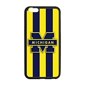 Generic Custom Best Design NCAA University of Michigan Wolverines Blue and Yellow Team Logo Plastic and TPU Case Coveriphone 5s