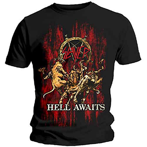 - Slayer Thrash Metal Tom Araya Dave Lombardo 2 Official Tee T-Shirt Mens Unisex (X-Large) Black