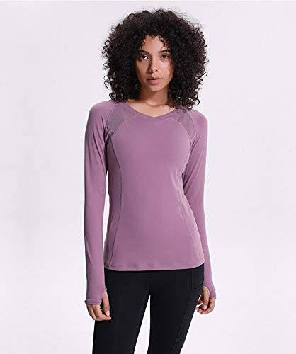 Camiseta de manga larga de secado r/ápido para mujer y mujer Azornic