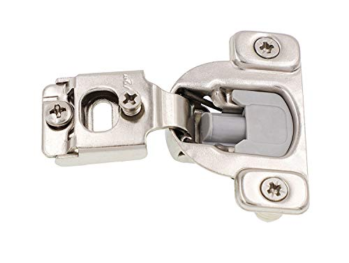 Face Frame Cabinet Hinges (40-Pack) Kitchen and Bathroom | Soft Close w/Built-in Damper | 3-Way Adjustability, 1/2 Inch Overlay | Stainless-Steel Metal Finish ()