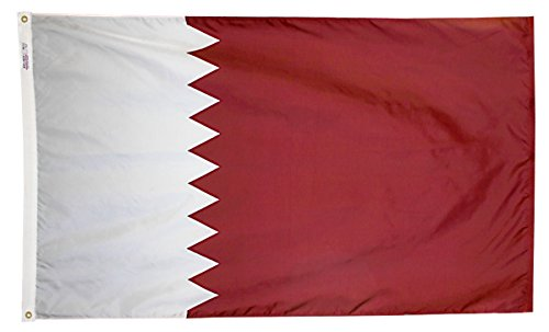 Annin Flagmakers Model 196877 Qatar Flag 3x5 ft. Nylon Solar